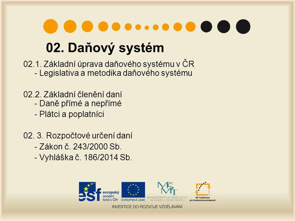 02. Daňový systém 02.1.