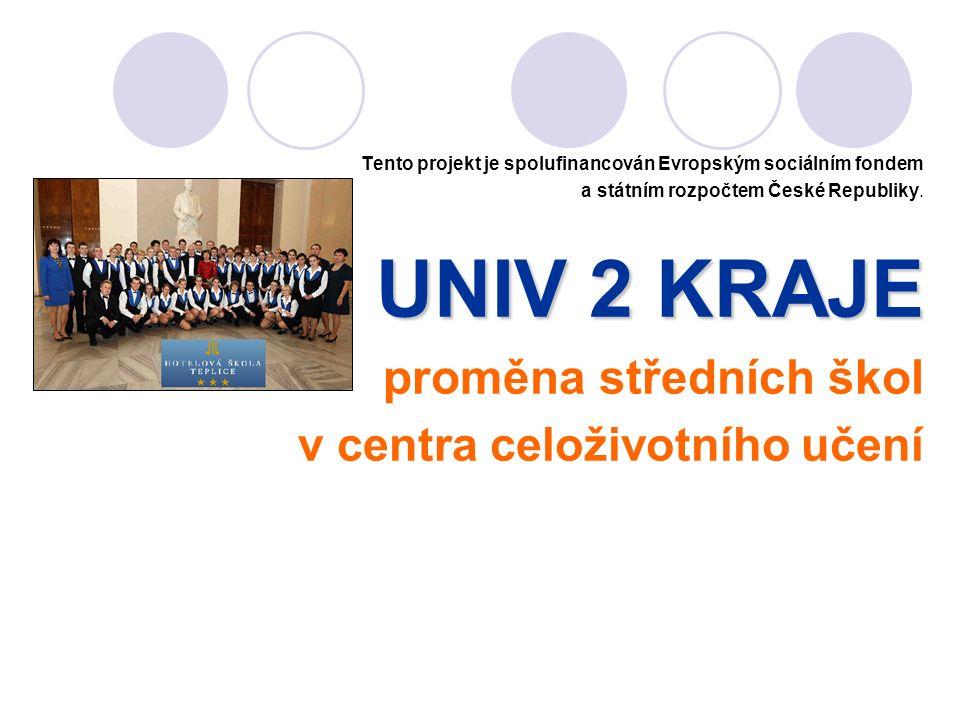 Tento projekt je spolufinancován Evropským sociálním fondem a státním rozpočtem České Republiky. UNIV 2 KRAJE proměna středních škol v centra celoživo