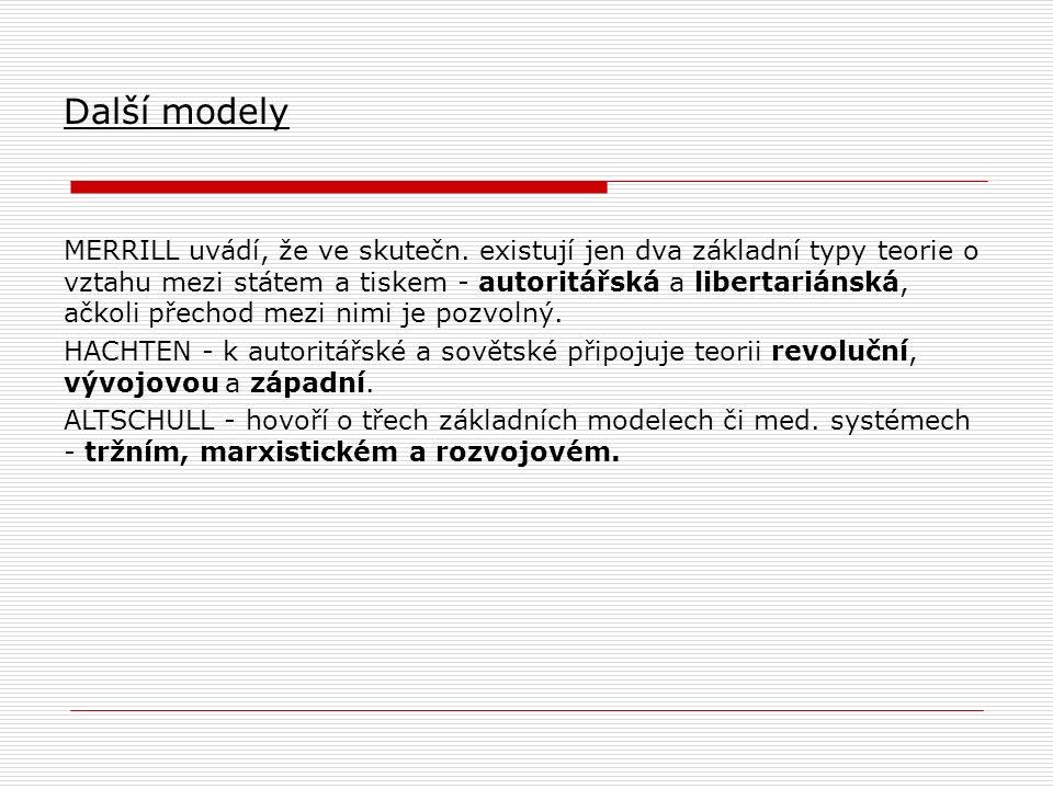 Další modely MERRILL uvádí, že ve skutečn.