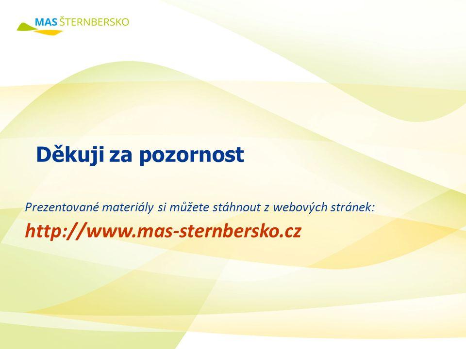 Prezentované materiály si můžete stáhnout z webových stránek: http://www.mas-sternbersko.cz Děkuji za pozornost