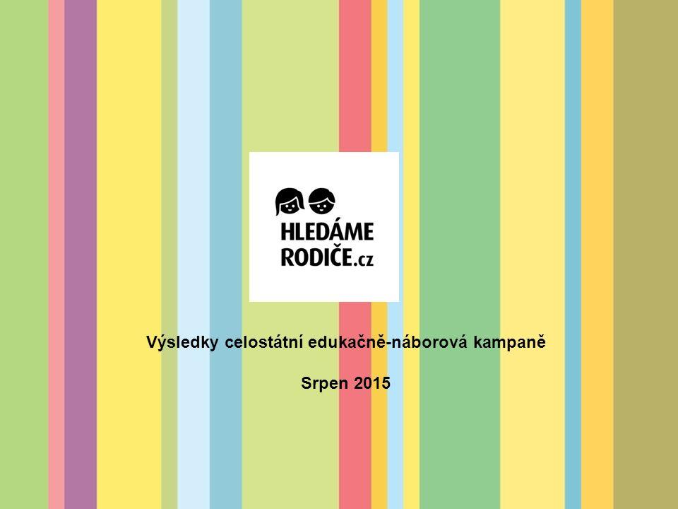 Výsledky celostátní edukačně-náborová kampaně Srpen 2015