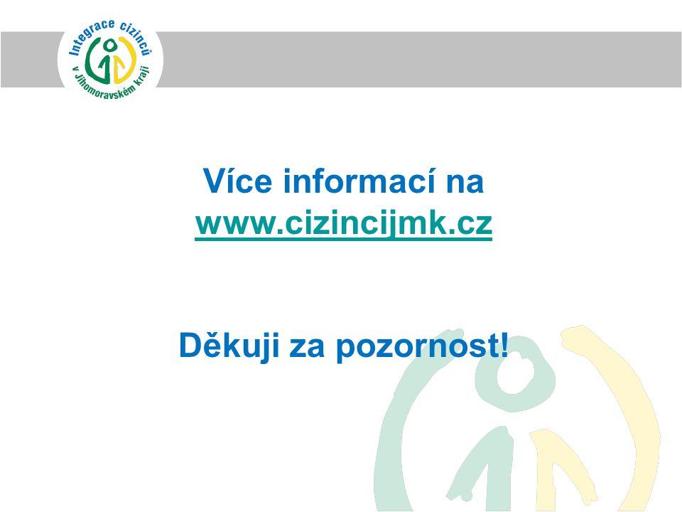 Více informací na www.cizincijmk.cz www.cizincijmk.cz Děkuji za pozornost!