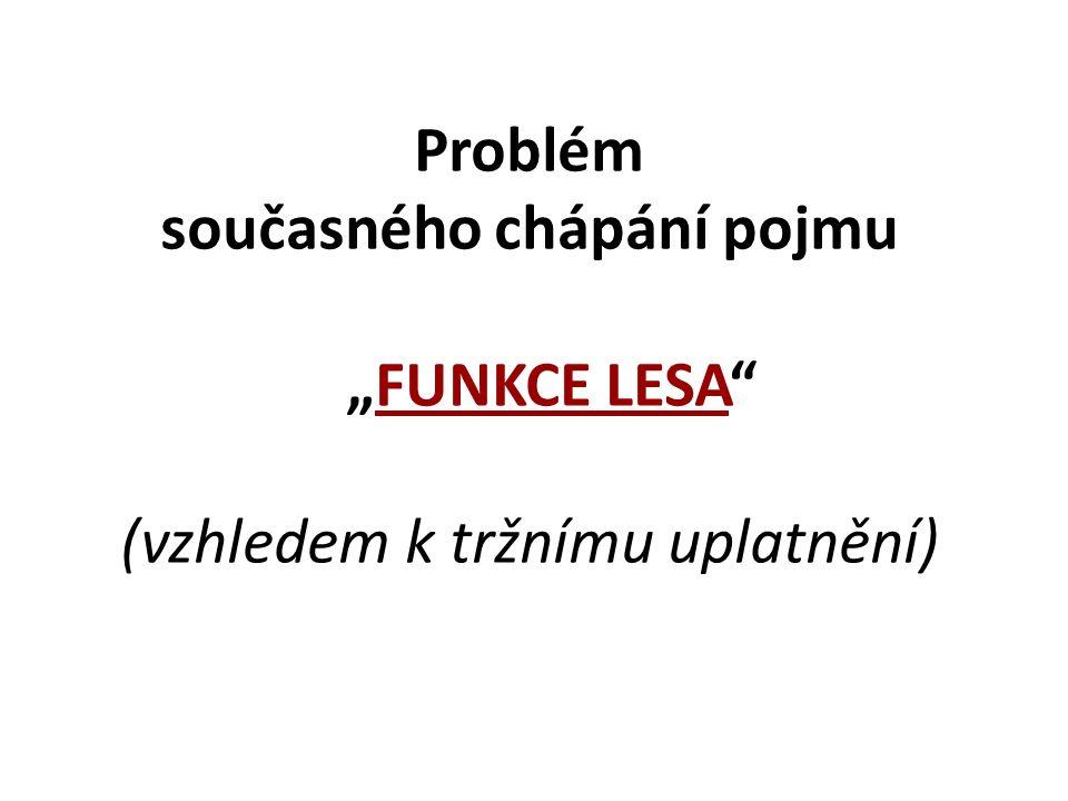 """Problém současného chápání pojmu """"FUNKCE LESA"""" (vzhledem k tržnímu uplatnění)"""