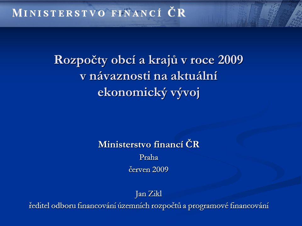 Predikce daňových příjmů Daňový příjem Predikce na rok 2009 (mld.