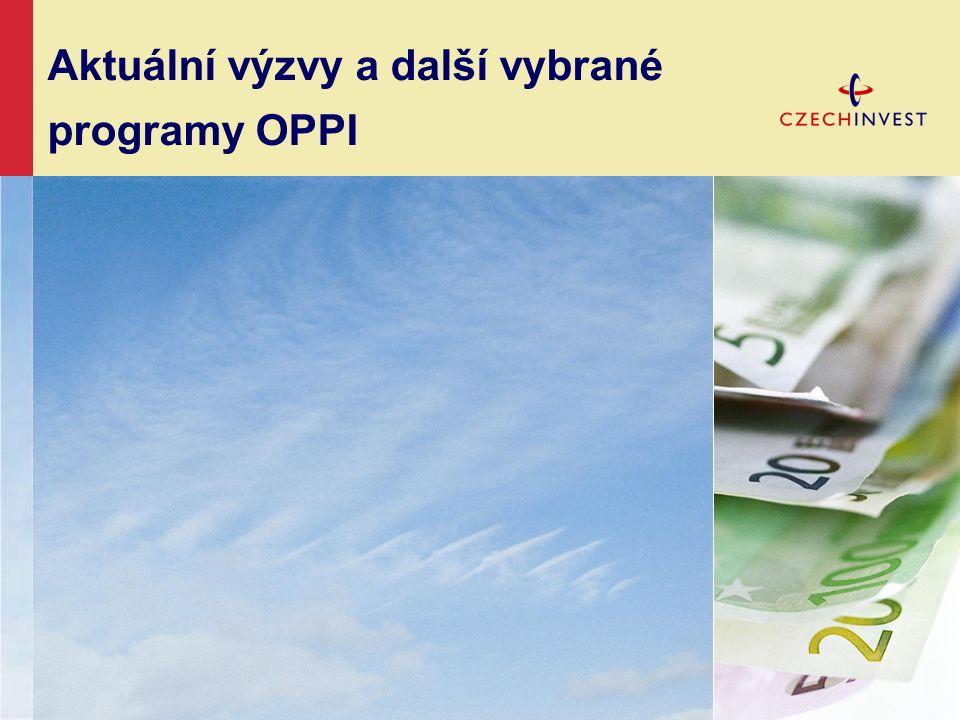 Aktuální výzvy a další vybrané programy OPPI