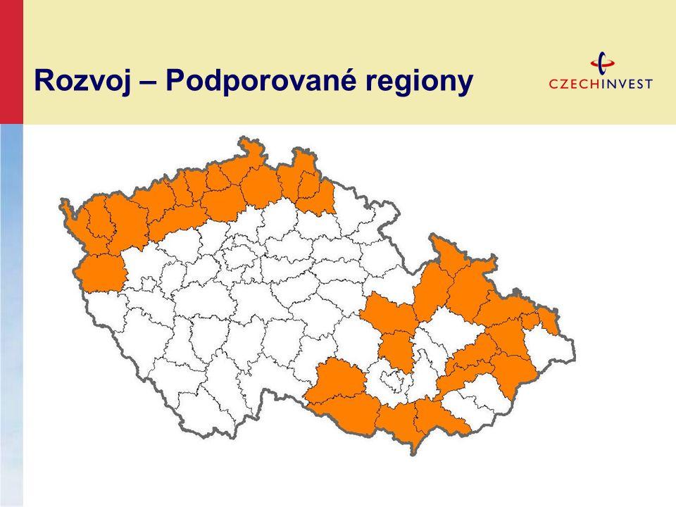 Rozvoj – Podporované regiony