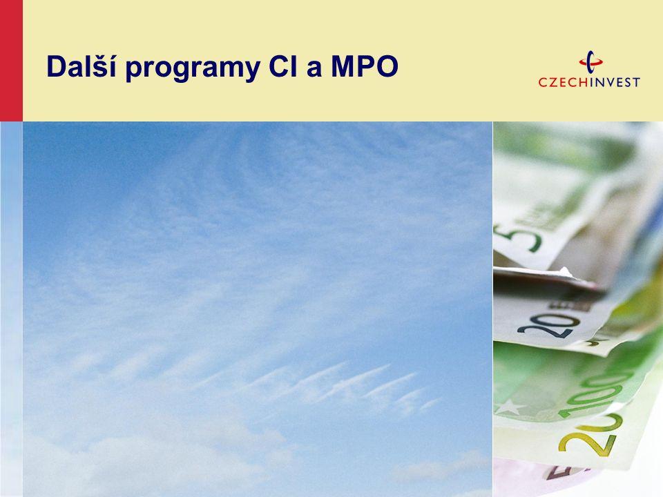Další programy CI a MPO