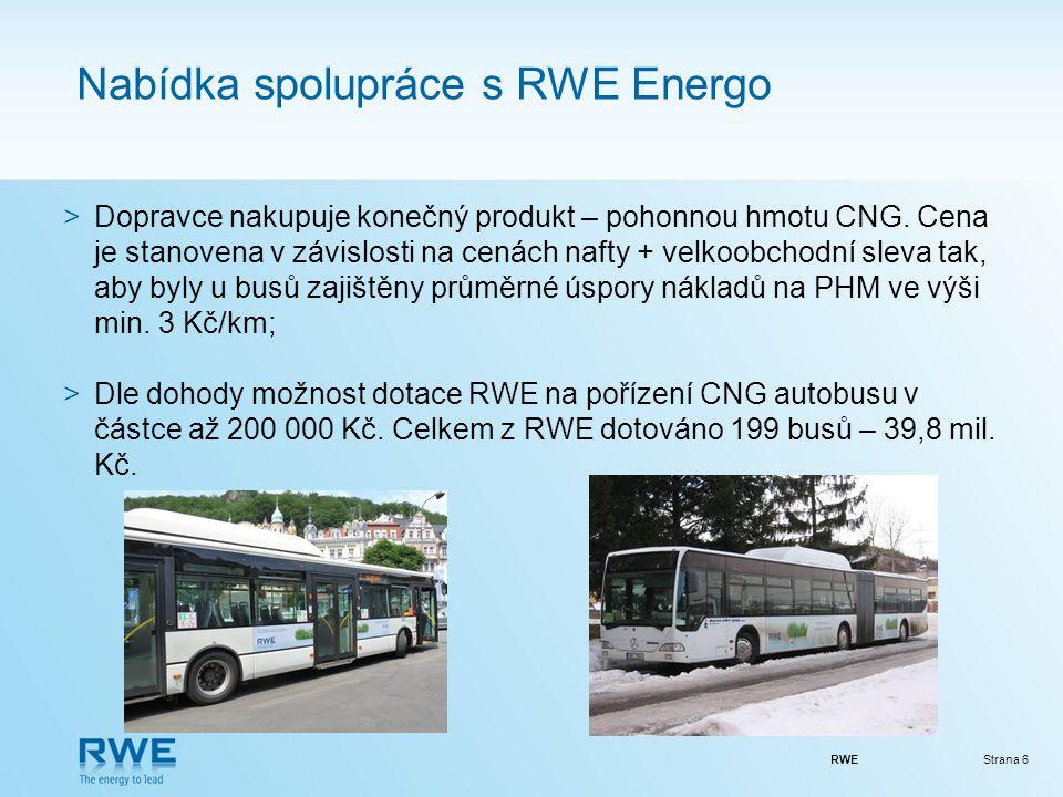 RWEStrana 6 Nabídka spolupráce s RWE Energo >Dopravce nakupuje konečný produkt – pohonnou hmotu CNG.