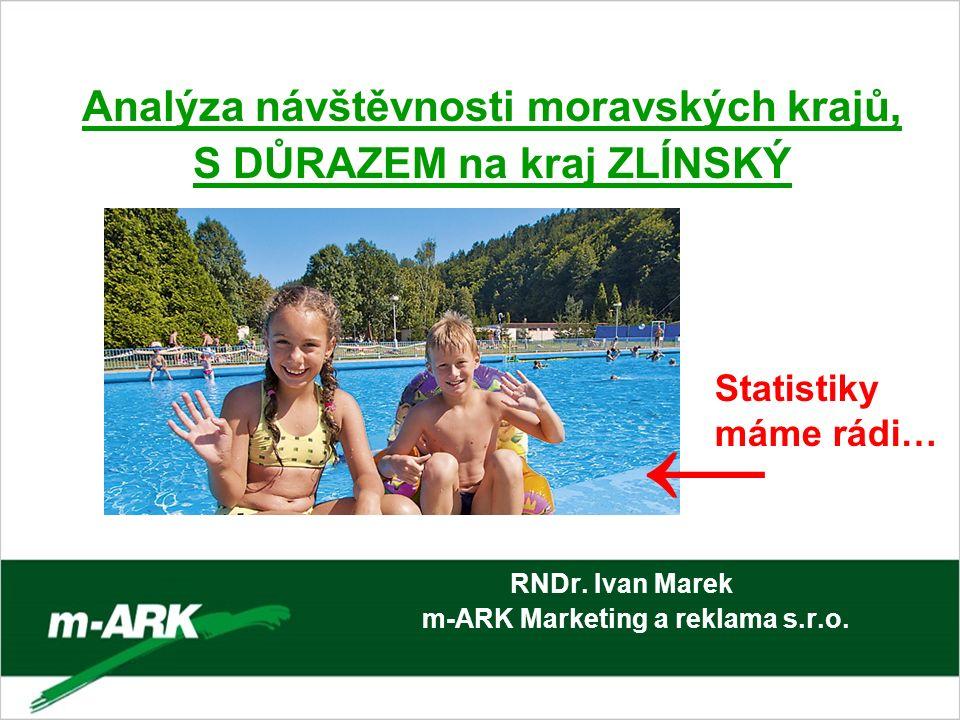 Analýza návštěvnosti moravských krajů, S DŮRAZEM na kraj ZLÍNSKÝ RNDr. Ivan Marek m-ARK Marketing a reklama s.r.o. → Statistiky máme rádi…
