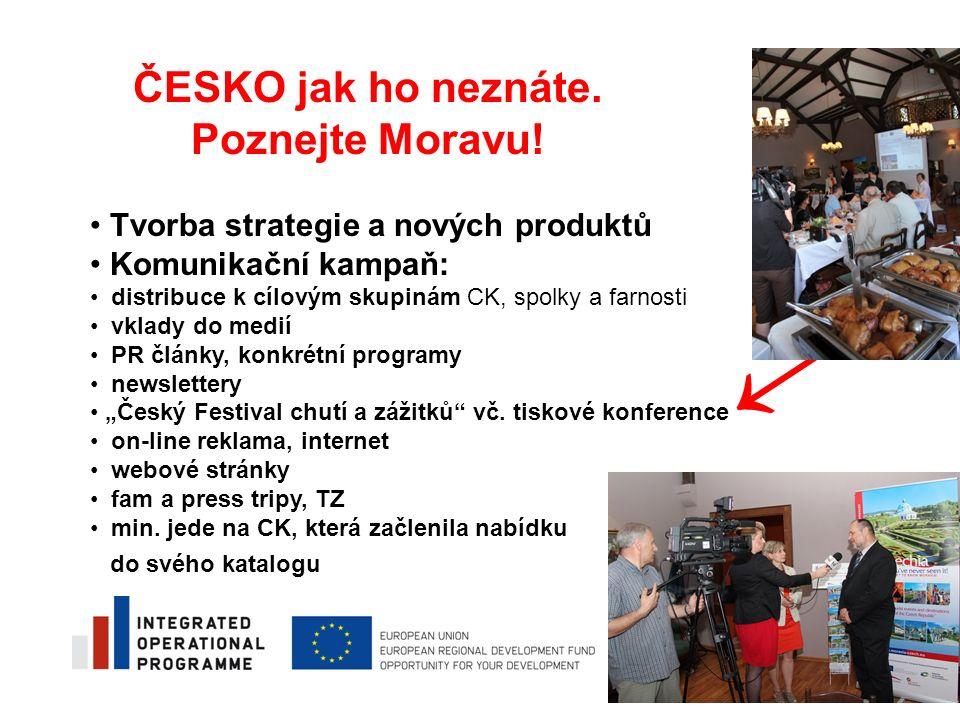 Tvorba strategie a nových produktů Komunikační kampaň: distribuce k cílovým skupinám CK, spolky a farnosti vklady do medií PR články, konkrétní progra