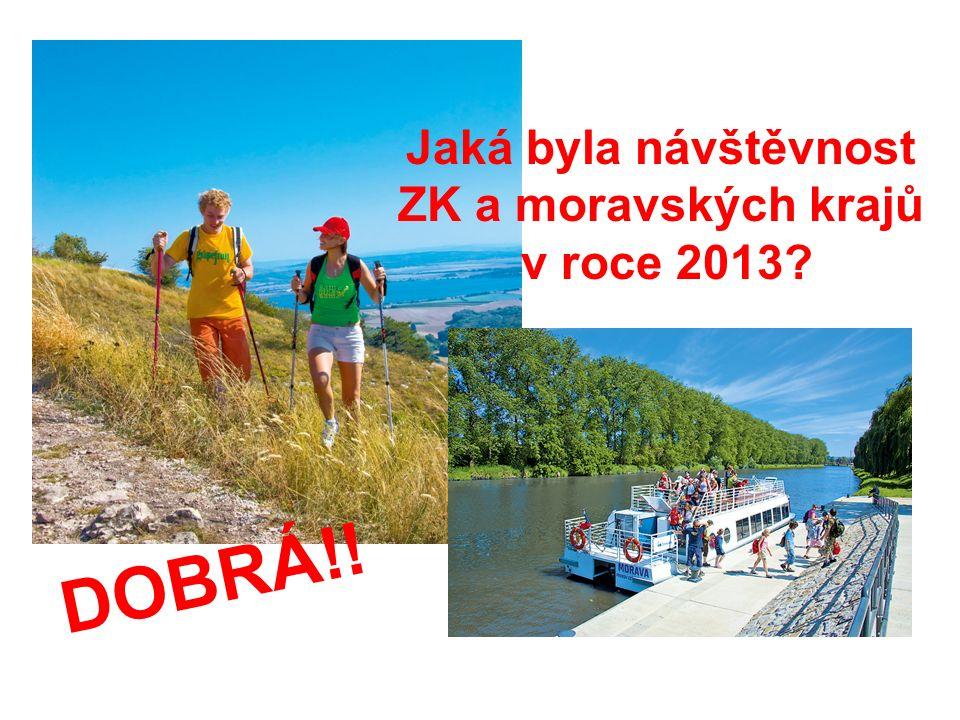 Jaká byla návštěvnost ZK a moravských krajů v roce 2013? DOBRÁ!!