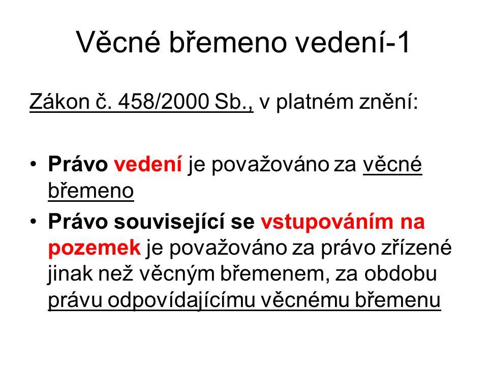 Věcné břemeno vedení-1 Zákon č.