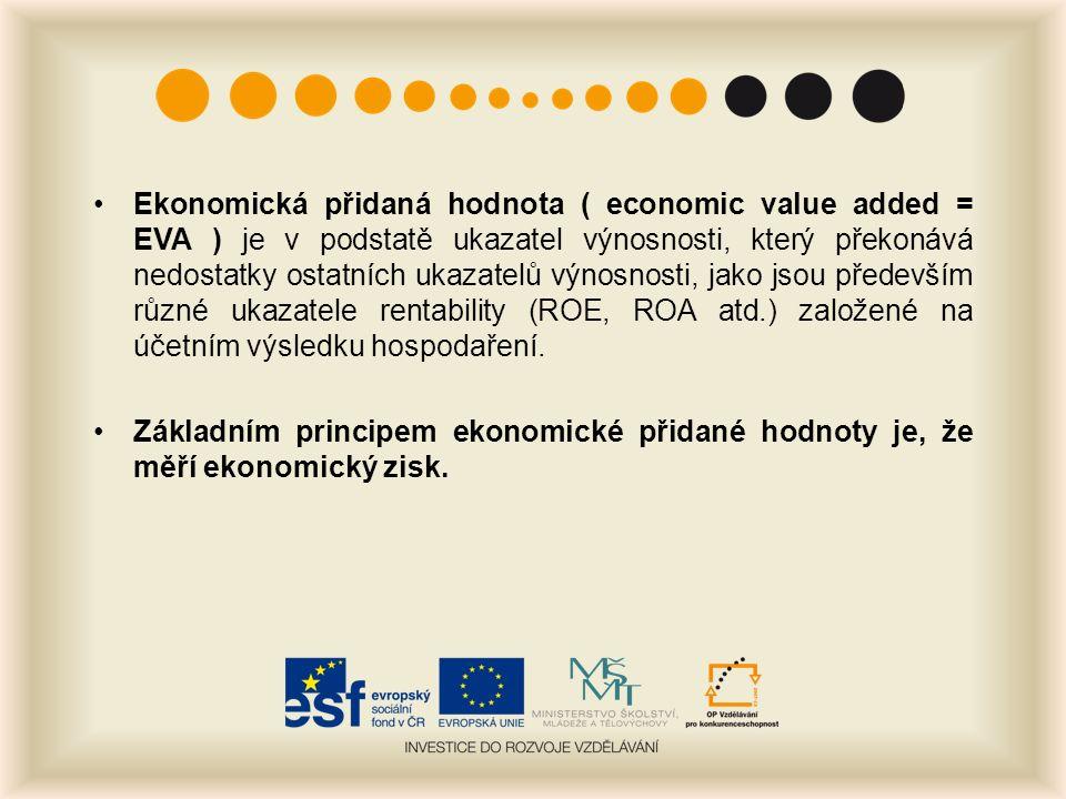 Ekonomická přidaná hodnota ( economic value added = EVA ) je v podstatě ukazatel výnosnosti, který překonává nedostatky ostatních ukazatelů výnosnosti, jako jsou především různé ukazatele rentability (ROE, ROA atd.) založené na účetním výsledku hospodaření.