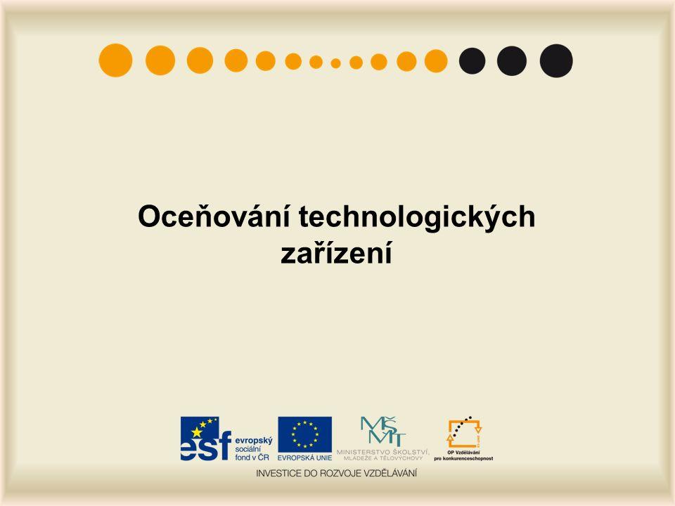 Oceňování technologických zařízení