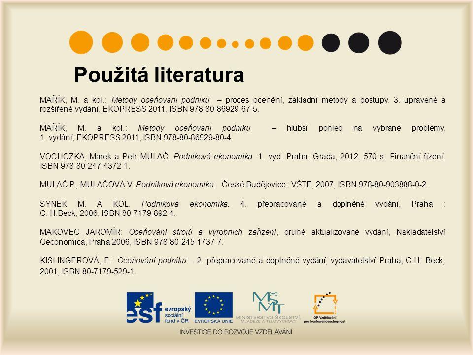 Použitá literatura MAŘÍK, M.