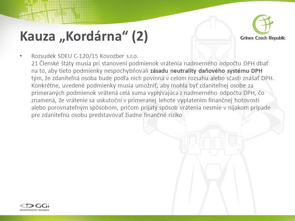 Rozsudek SDEU C-120/15 Kovozber s.r.o.