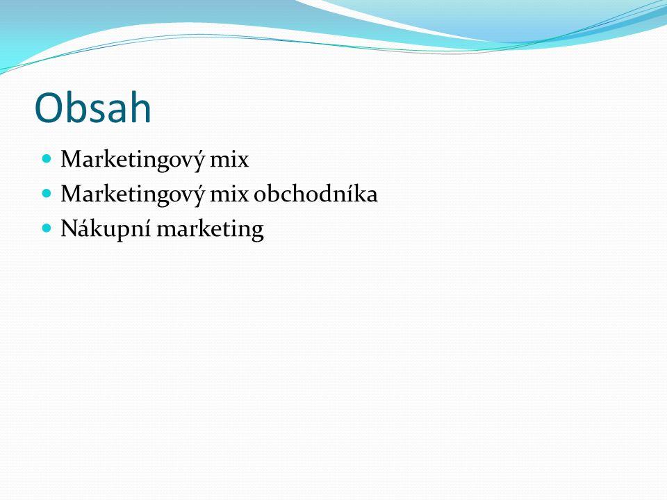 Marketing Historicky vzniká v obchodě.