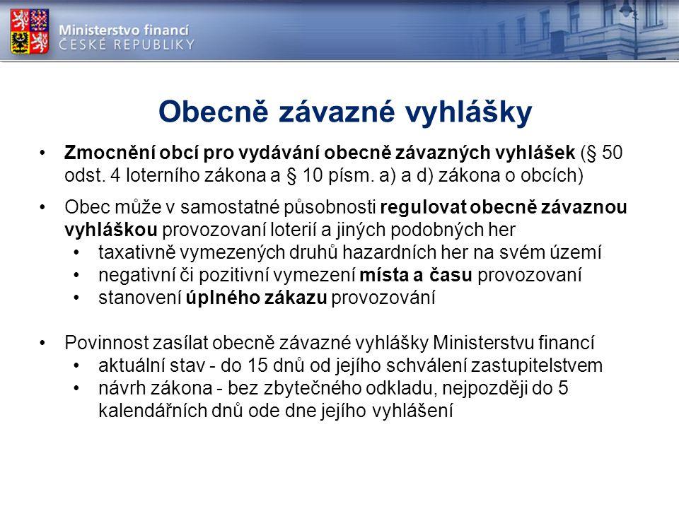 Zmocnění obcí pro vydávání obecně závazných vyhlášek (§ 50 odst.
