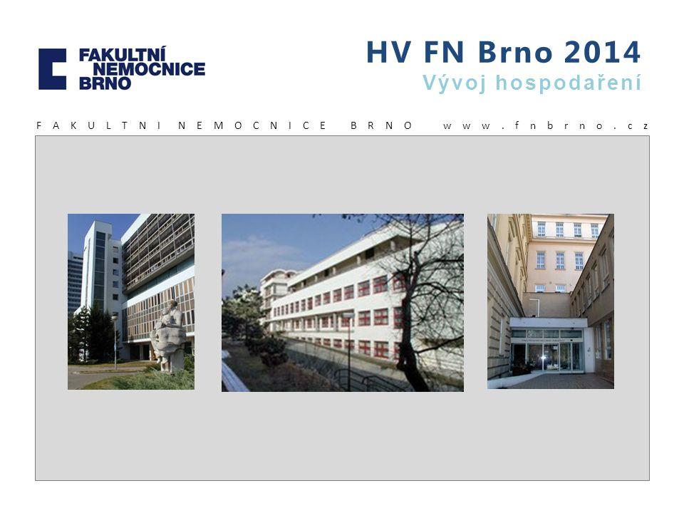 HV FN Brno 2014 Vývoj hospodaření F A K U L T N I N E M O C N I C E B R N O w w w. f n b r n o. c z