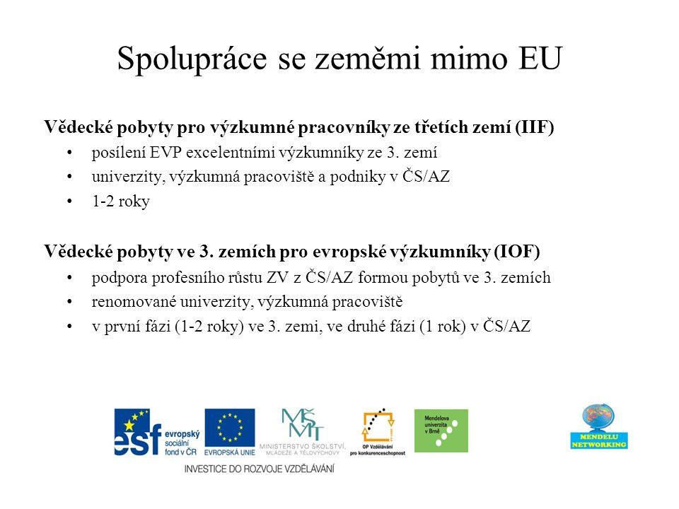 Vědecké pobyty pro výzkumné pracovníky ze třetích zemí (IIF) posílení EVP excelentními výzkumníky ze 3.