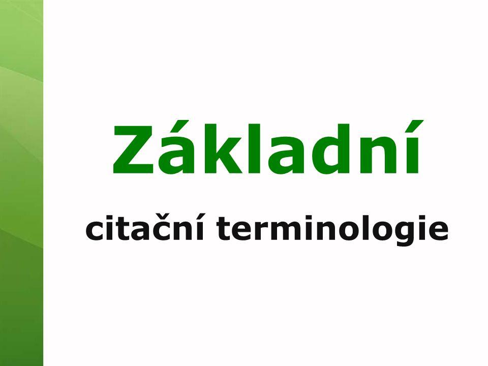 Základní citační terminologie