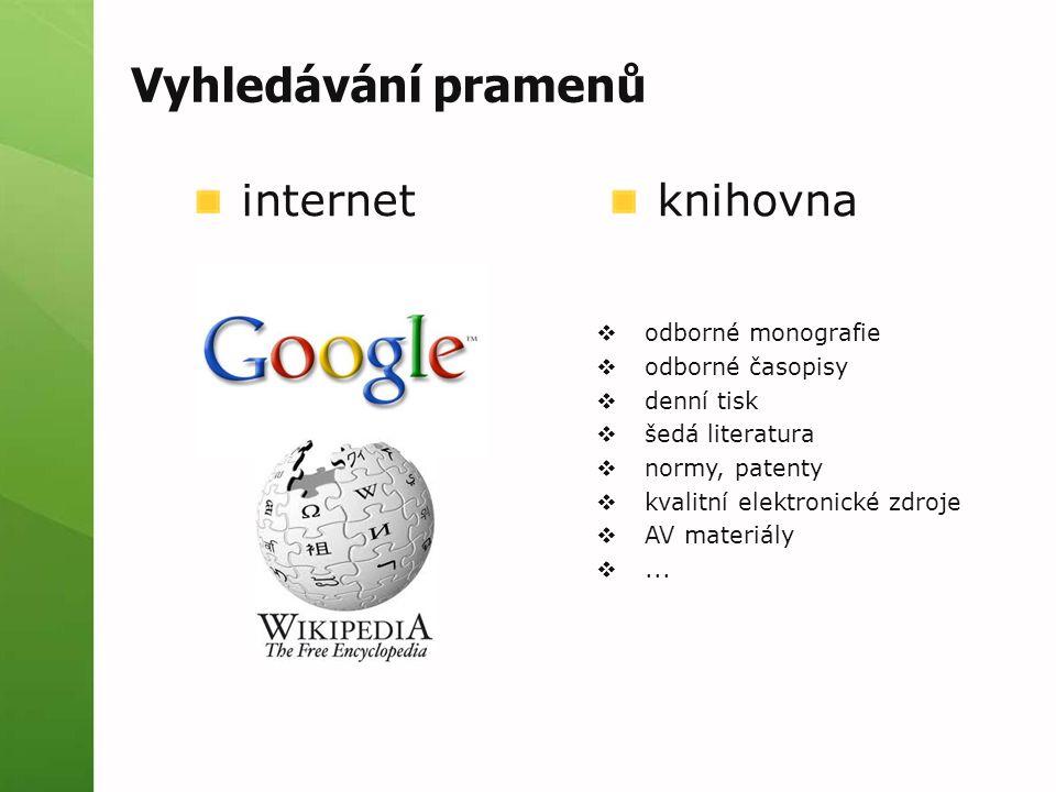 Webové stránky (jako součást webu) Primární odpovědnost stránky.