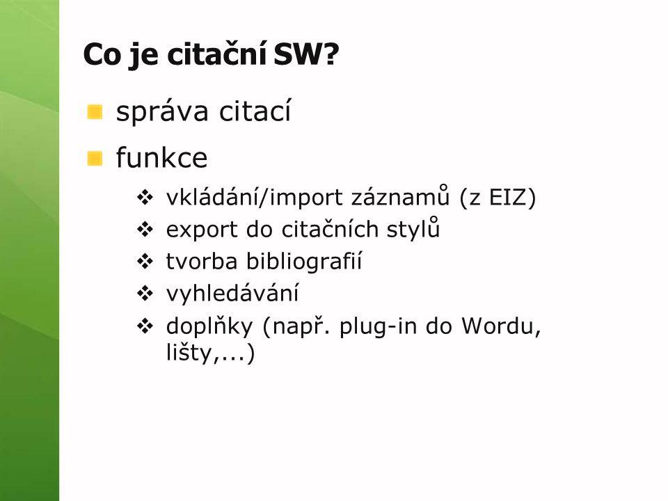 Co je citační SW.