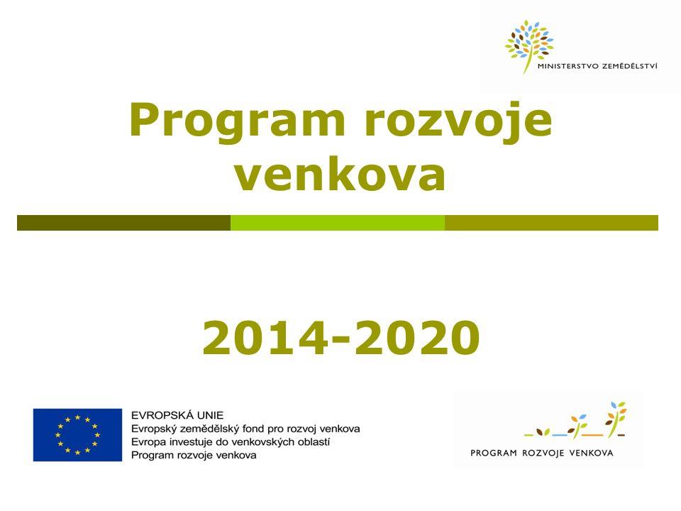 Program rozvoj venkova - souhrn  Nástroj pro čerpání cca 2,3 mld.