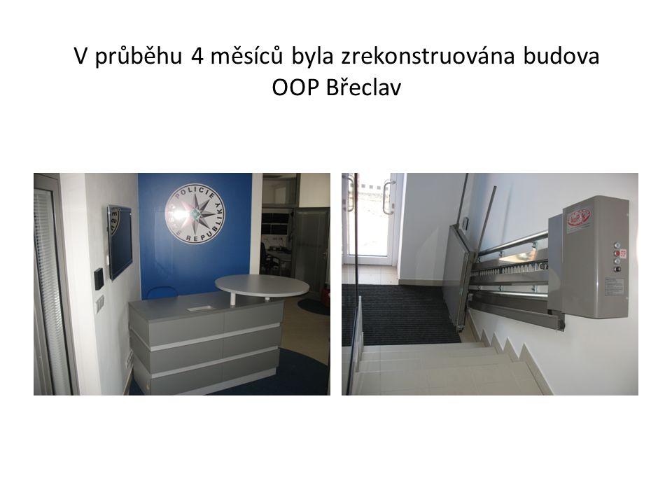 V průběhu 4 měsíců byla zrekonstruována budova OOP Břeclav