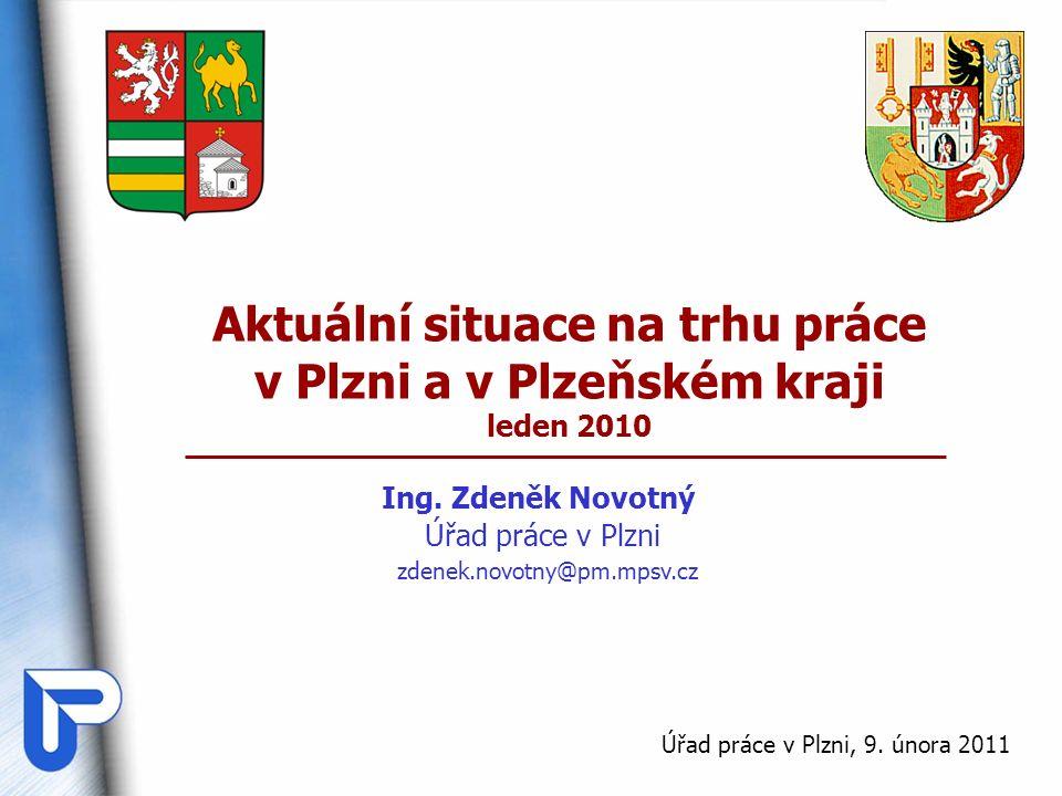 Aktuální situace na trhu práce v Plzni a v Plzeňském kraji leden 2010 Ing. Zdeněk Novotný Úřad práce v Plzni Úřad práce v Plzni, 9. února 2011 zdenek.