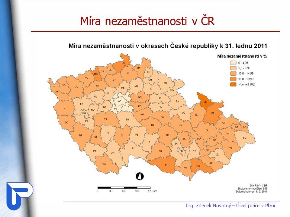 Míra nezaměstnanosti v ČR Ing. Zdenek Novotný – Úřad práce v Plzni
