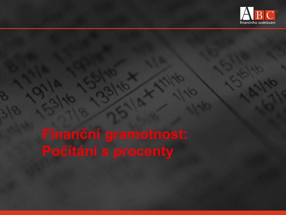 Finanční gramotnost: Počítání s procenty