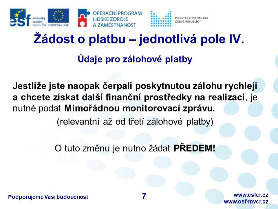 Podporujeme Vaši budoucnostwww.esfcr.cz www.osf-mvcr.cz C) Rozpis mzdových výdajů – III.