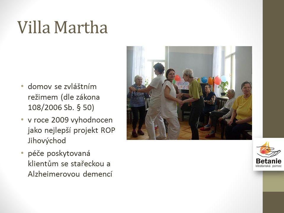 Villa Martha domov se zvláštním režimem (dle zákona 108/2006 Sb.