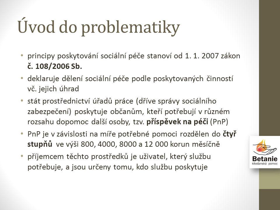 Úvod do problematiky principy poskytování sociální péče stanoví od 1.