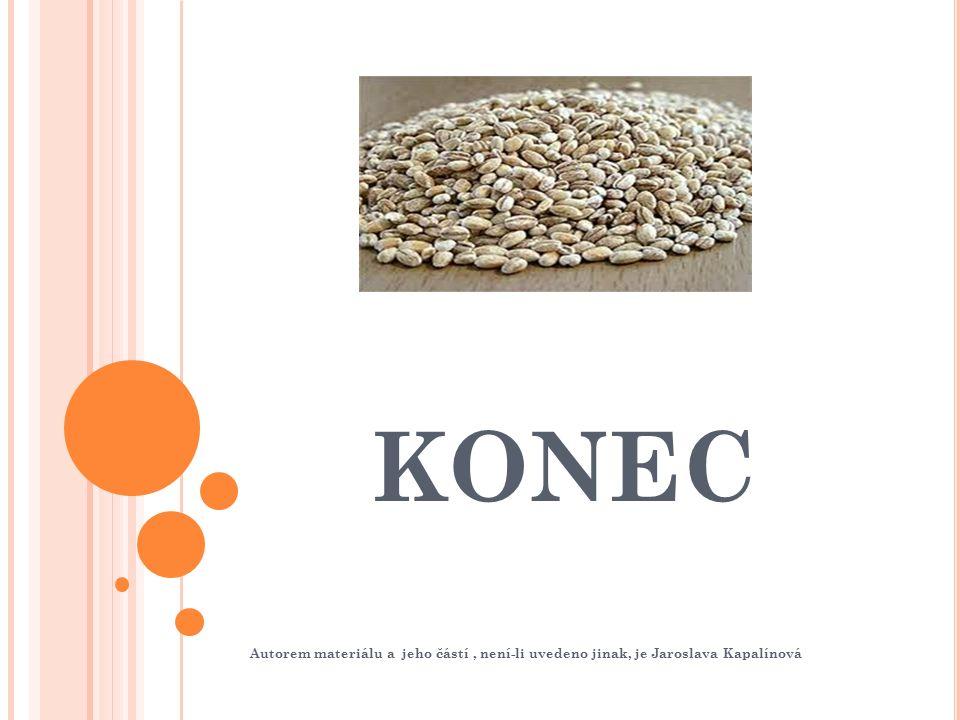 KONEC Autorem materiálu a jeho částí, není-li uvedeno jinak, je Jaroslava Kapalínová