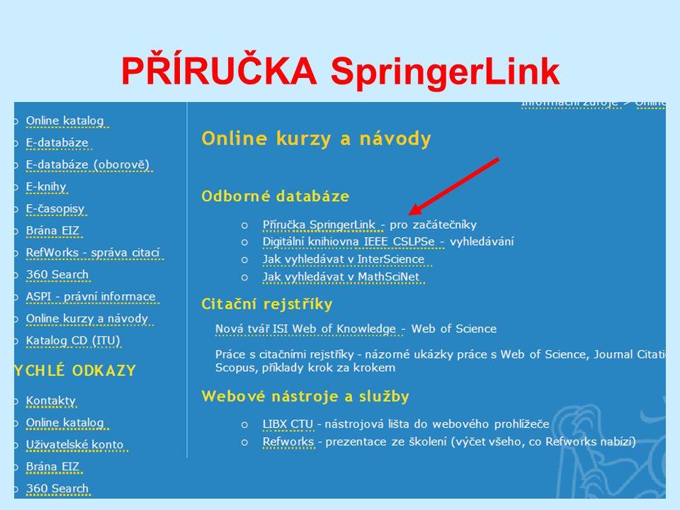 PŘÍRUČKA SpringerLink