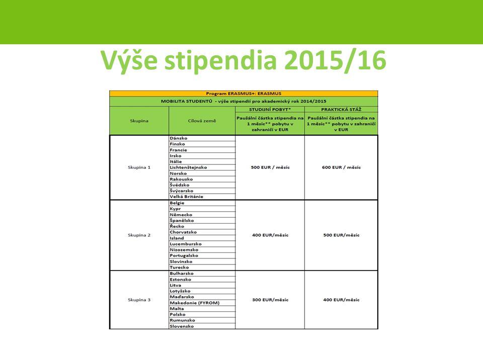 Výše stipendia 2015/16 strana 41