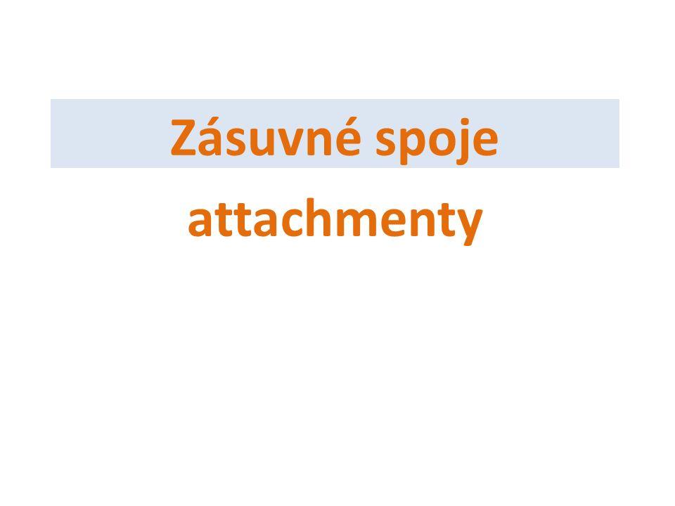 Zásuvné spoje attachmenty