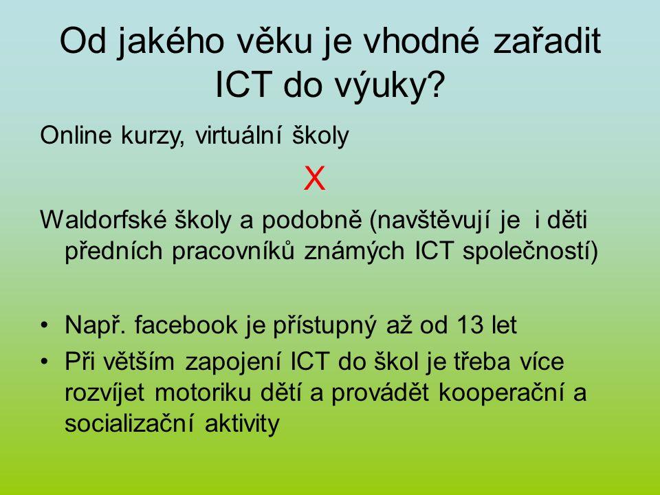 Od jakého věku je vhodné zařadit ICT do výuky.