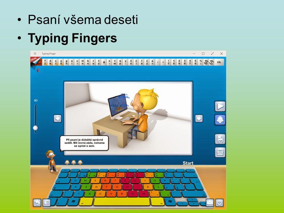 Psaní všema deseti Typing Fingers