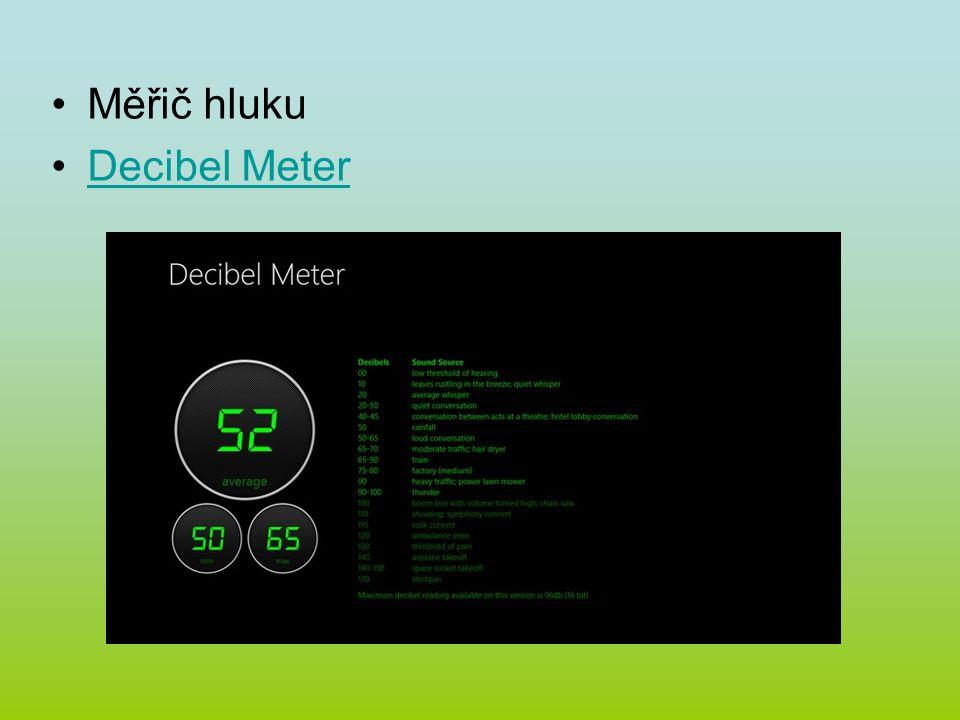 Měřič hluku Decibel Meter