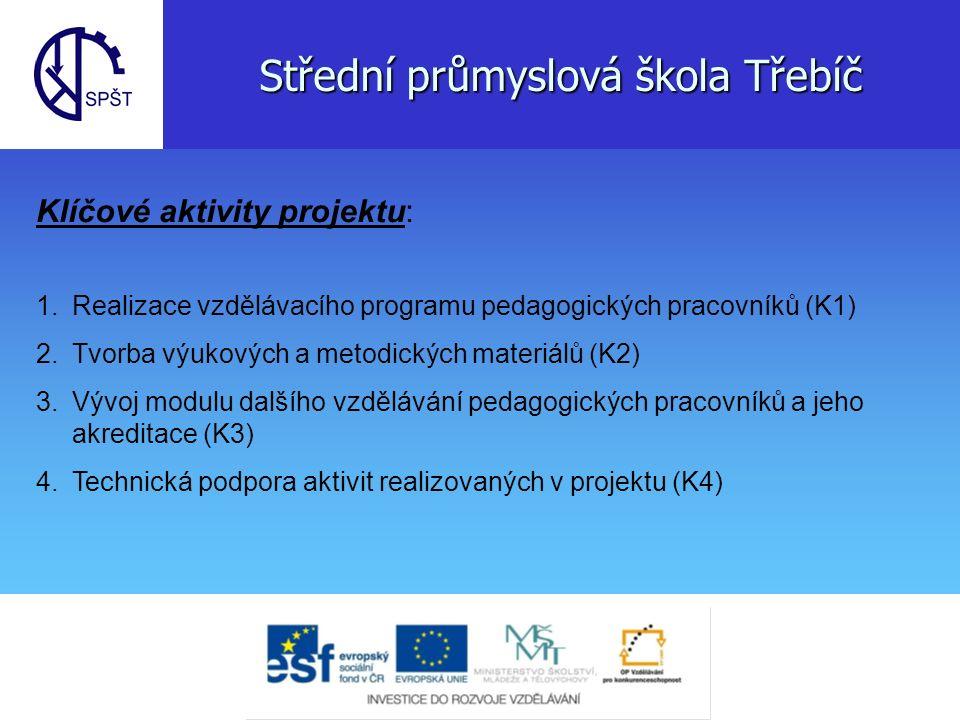 1.Klíčová aktivita Aktivity v programu vzdělávání pedagogů 1.