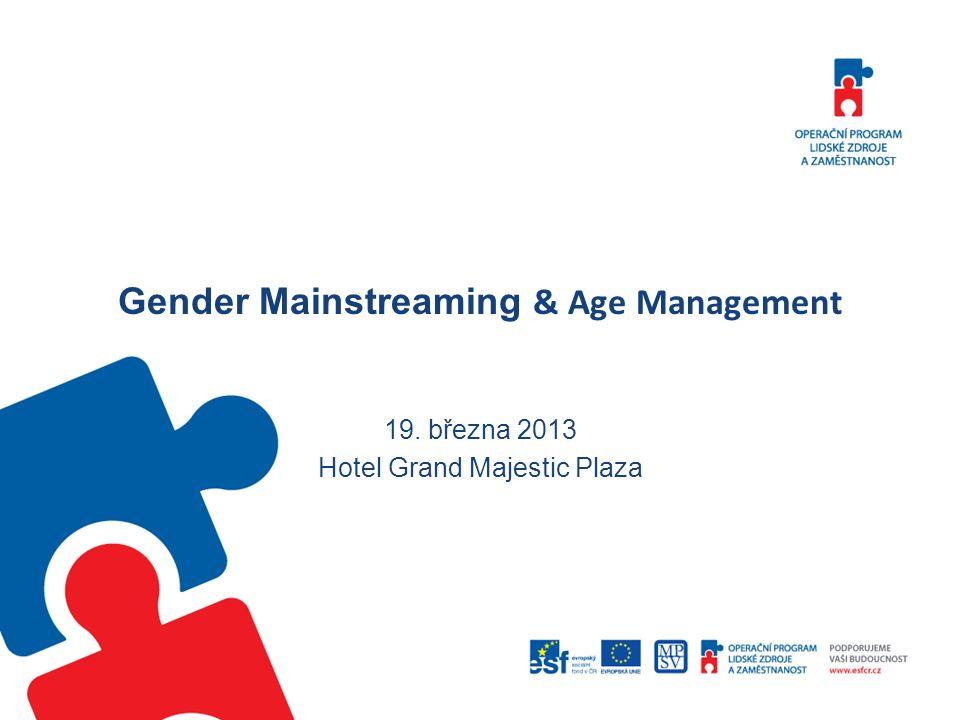 Rovné příležitosti jako horizontální téma Praktická realizace genderového mainstreamingu projekty zaměřené na organizaci žadatele Například podnikové vzdělávání, systém řízení lidských zdrojů v podniku, modernizace ve státní správě atd.