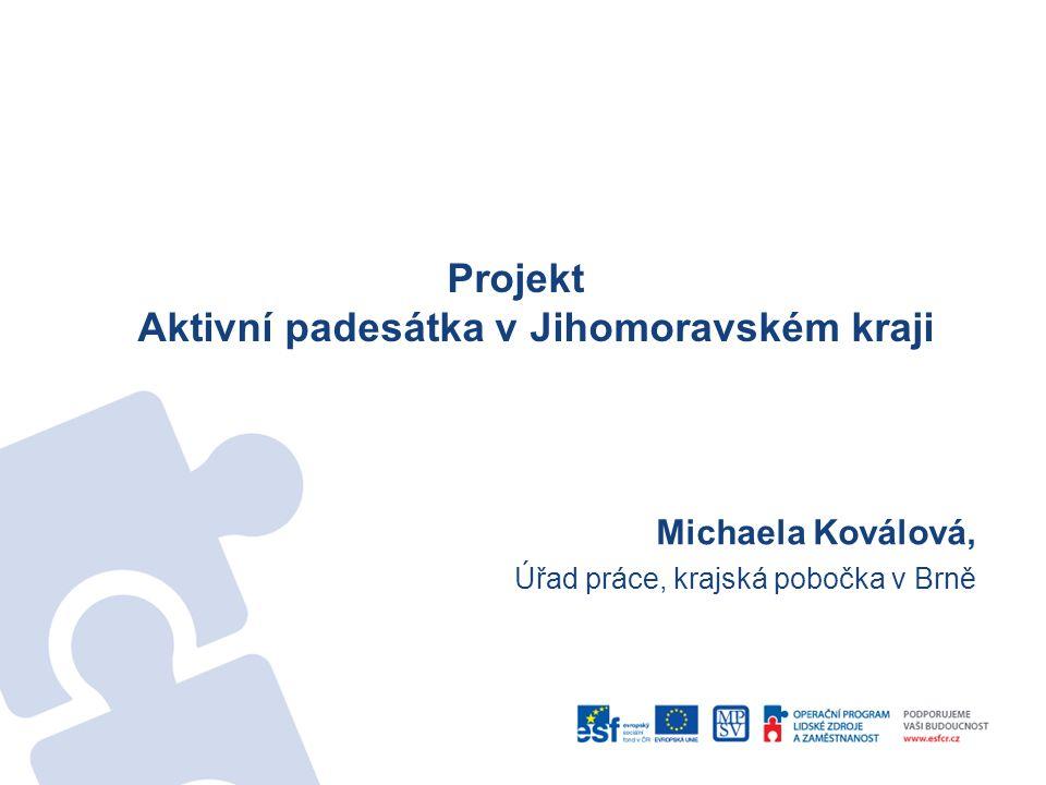 Projekt Aktivní padesátka v Jihomoravském kraji Michaela Koválová, Úřad práce, krajská pobočka v Brně