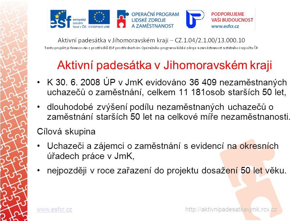 Aktivní padesátka v Jihomoravském kraji K 30. 6.