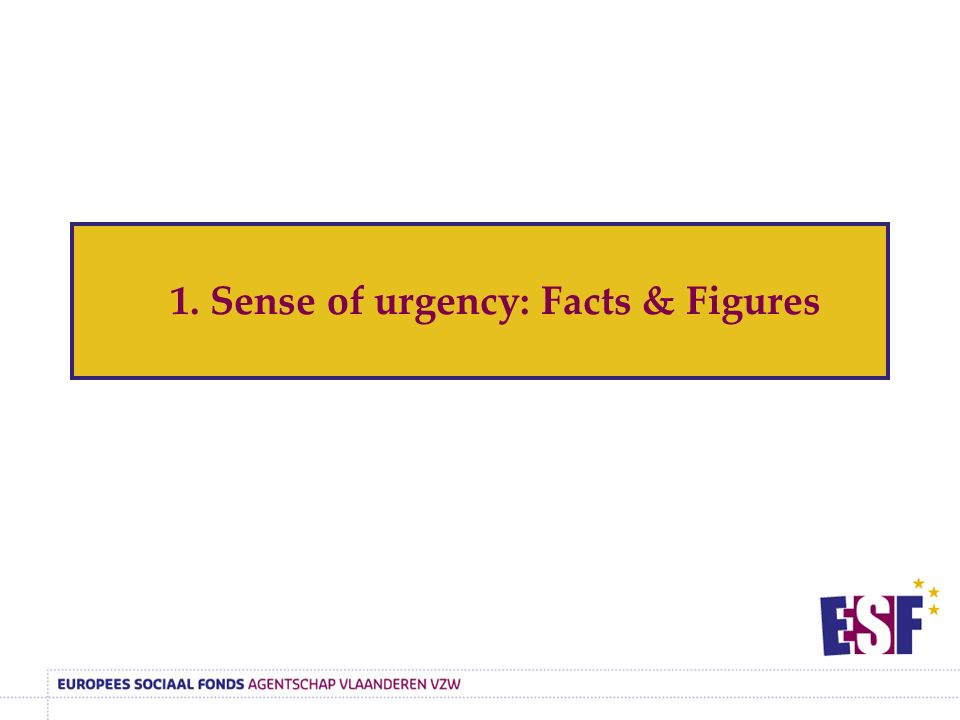1. Sense of urgency: Facts & Figures