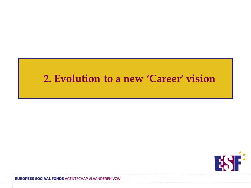 2. Evolution to a new 'Career' vision