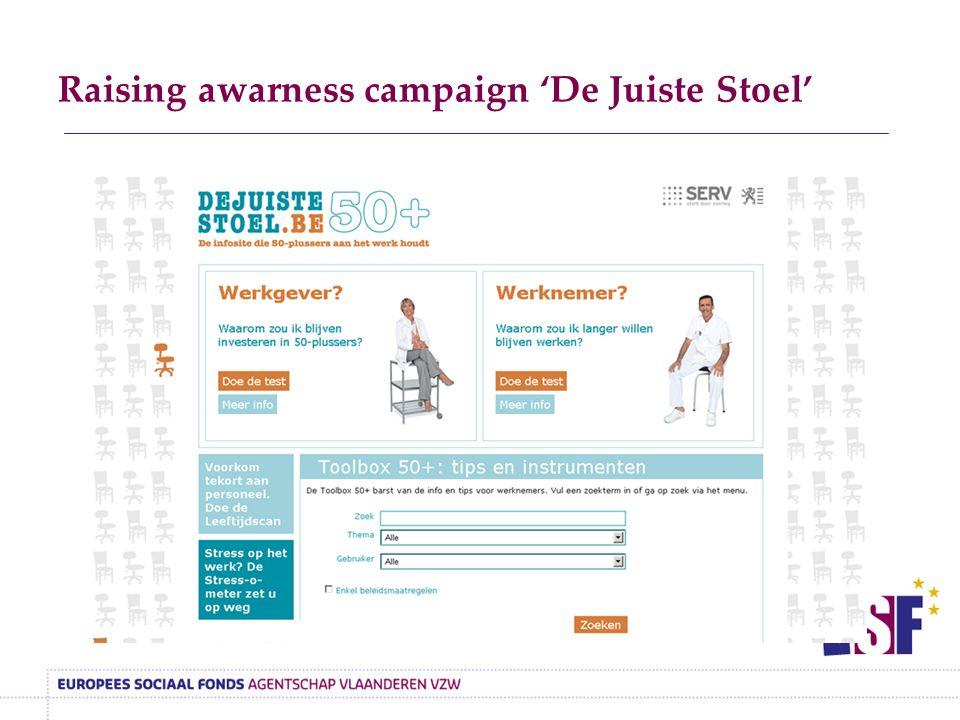 Raising awarness campaign 'De Juiste Stoel'