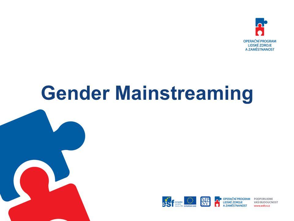 Nejzajímavější výstupy z mezinárodních konferencí pořádaných The Community of Practice on Gender Mainstreaming Adéla Šeredová Purschová Odbor řízení pomoci z ESF, MPSV